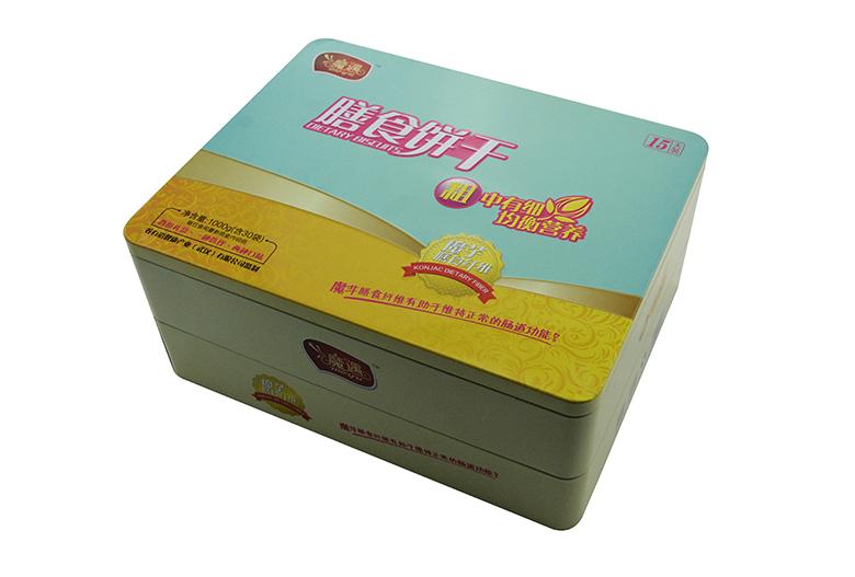 双层饼干铁盒