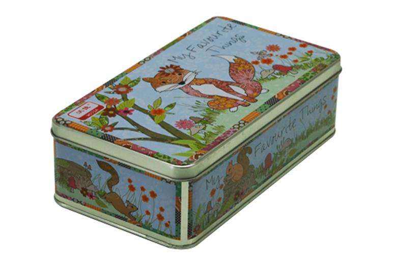花猫卡通礼品铁盒