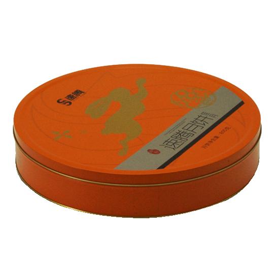 中秋圆形月饼铁盒