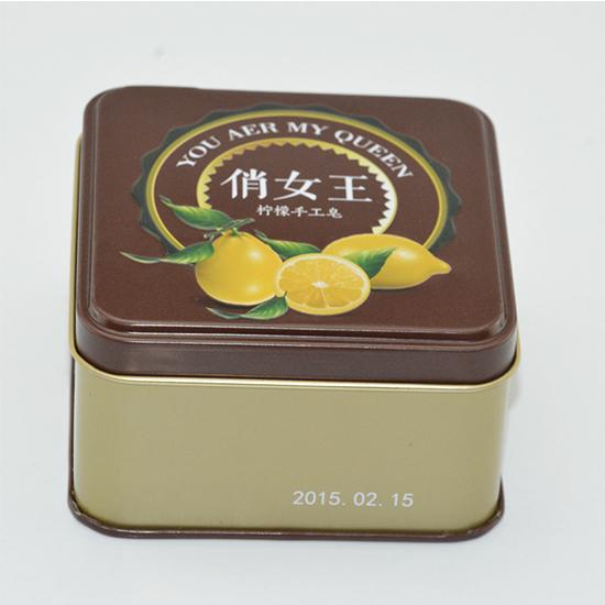 手工皂化妆品铁盒