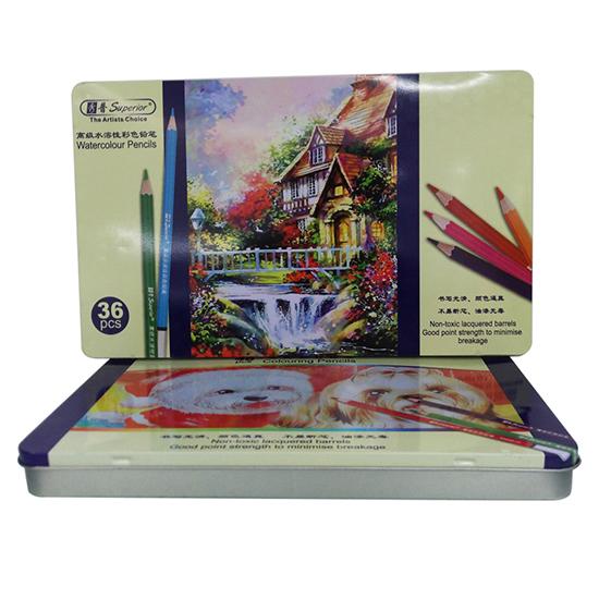 彩色笔文具铁盒