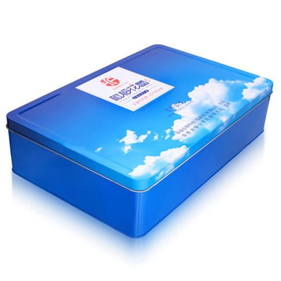 蓝色茶叶铁盒包装