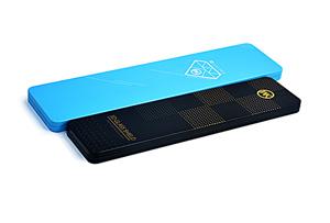 蓝色长方形文具铁盒