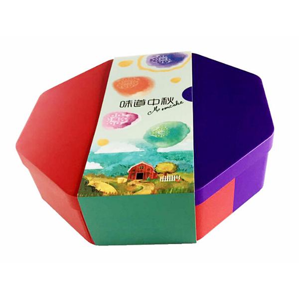 八边形月饼铁盒