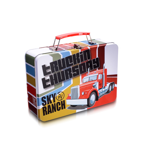 手挽礼品铁盒