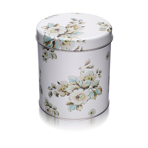 圆形花茶铁罐