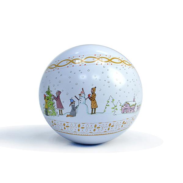 圣诞礼品球形铁罐