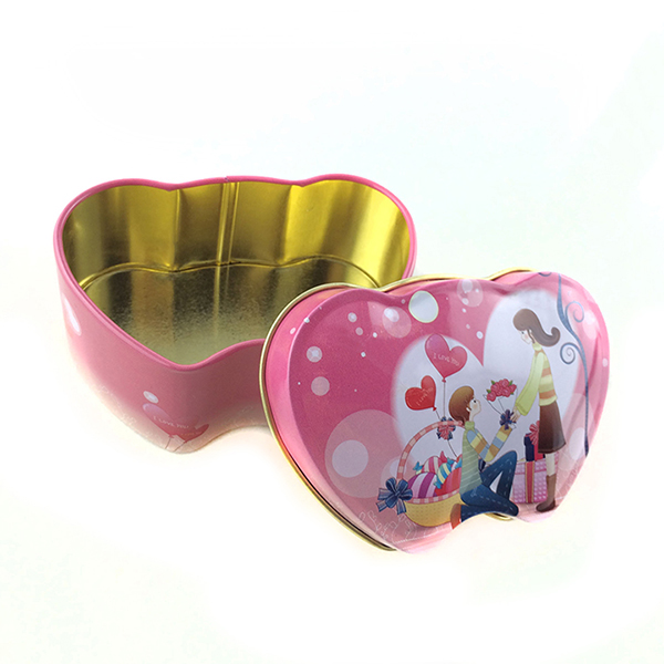 心形铁盒喜糖盒
