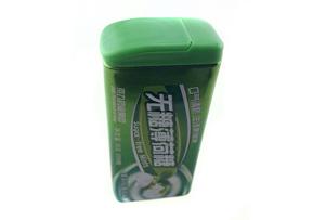 糖薄荷糖铁盒_口香糖小铁盒