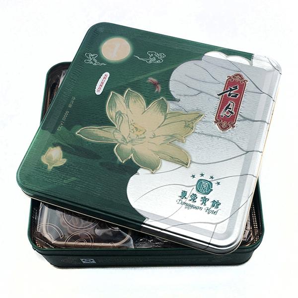 酒店月饼铁盒 优质方形月饼铁盒定制