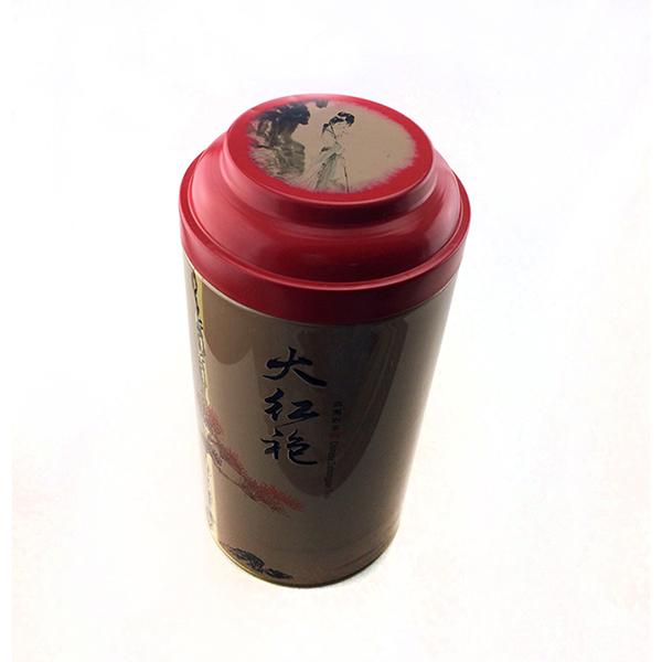 大红袍茶叶铁罐包装