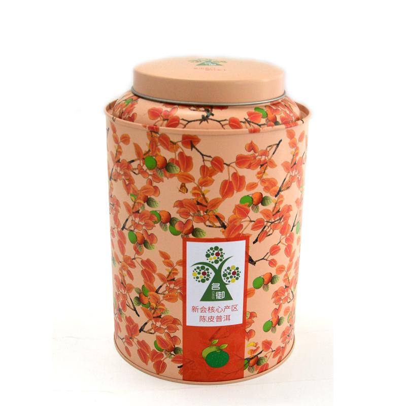 圆柱形绿茶铁罐