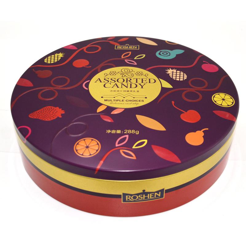圆形饼干铁盒,食品铁盒