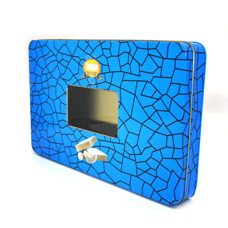 开窗电子产品铁盒
