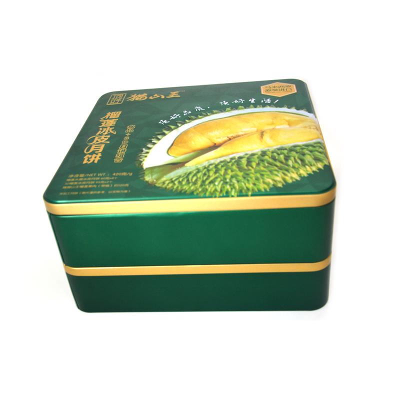 榴莲冰皮月饼铁盒