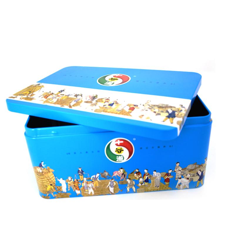 十谷道食品铁盒
