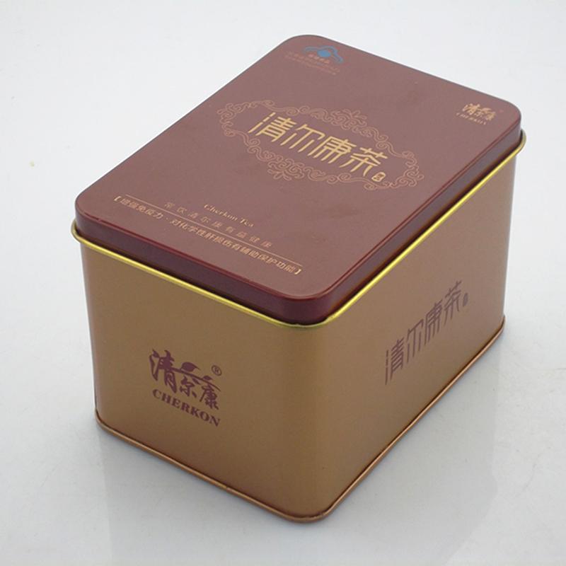 保健品铁盒 清而康茶