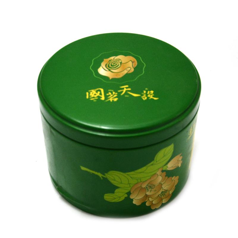 圆形金花茶铁罐