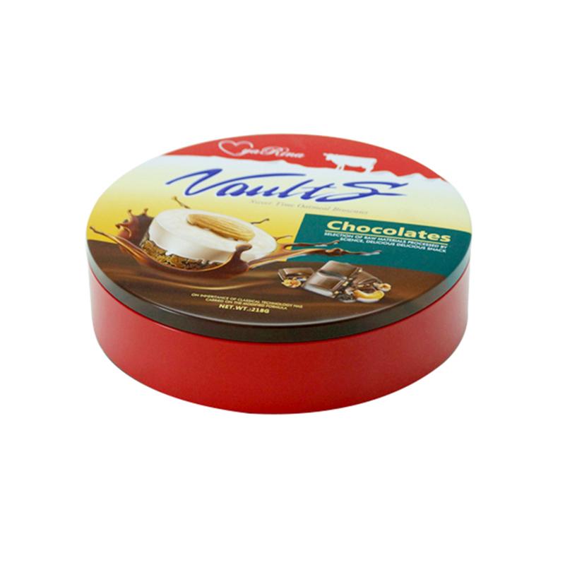 圆形巧克力糖果铁盒