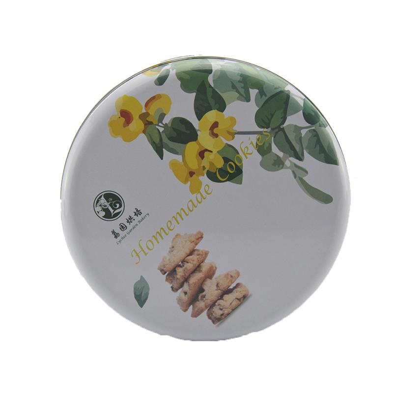 圆形曲奇饼干铁罐
