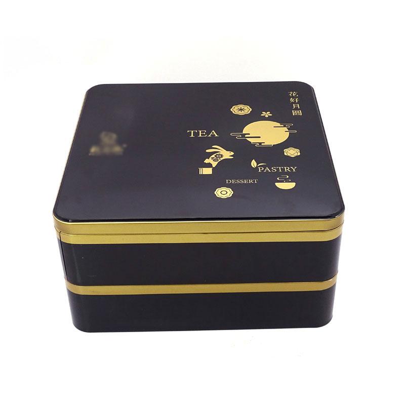 双层月饼铁盒