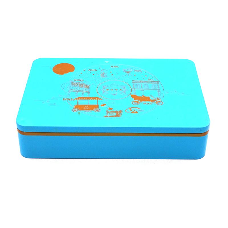 正方形月饼铁盒包装