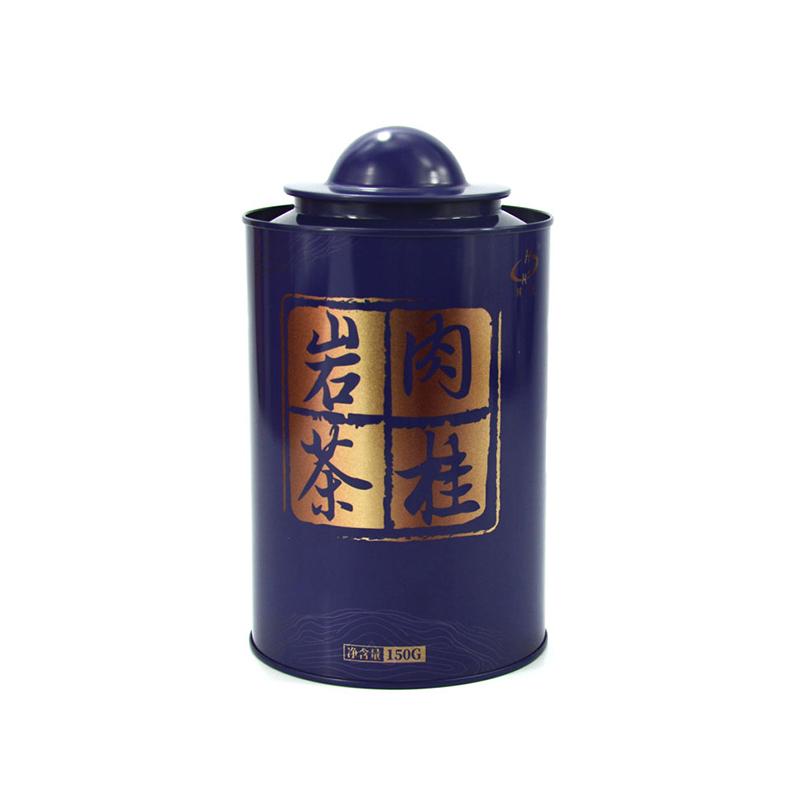 内塞盖圆形茶叶铁罐