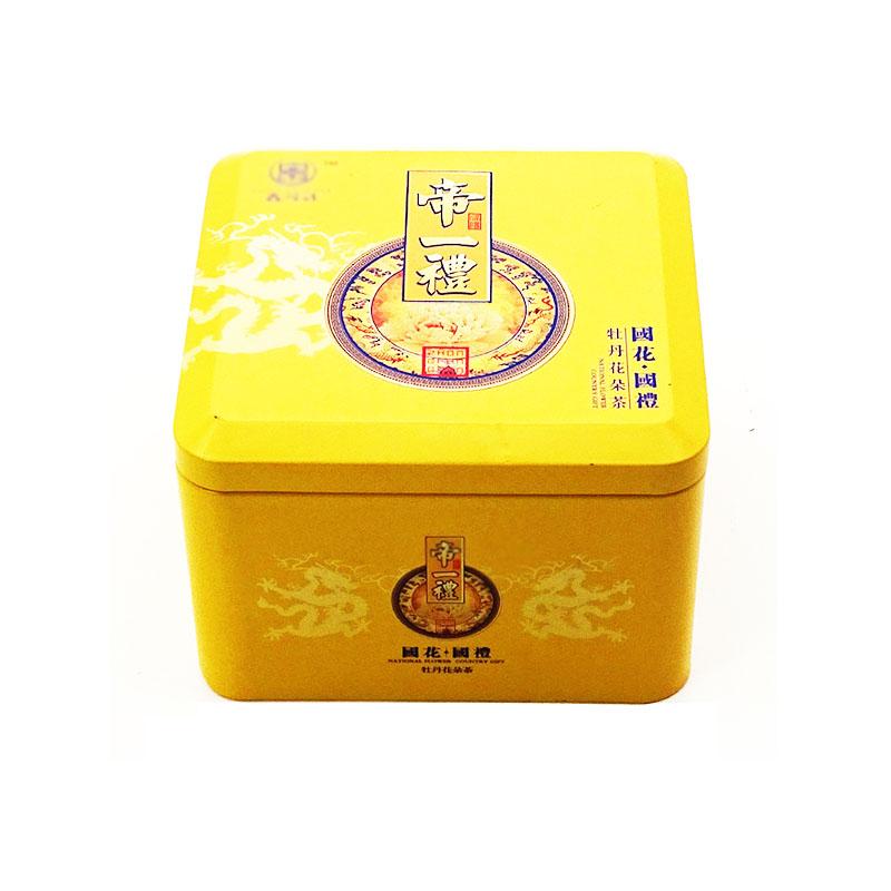 牡丹花茶铁盒