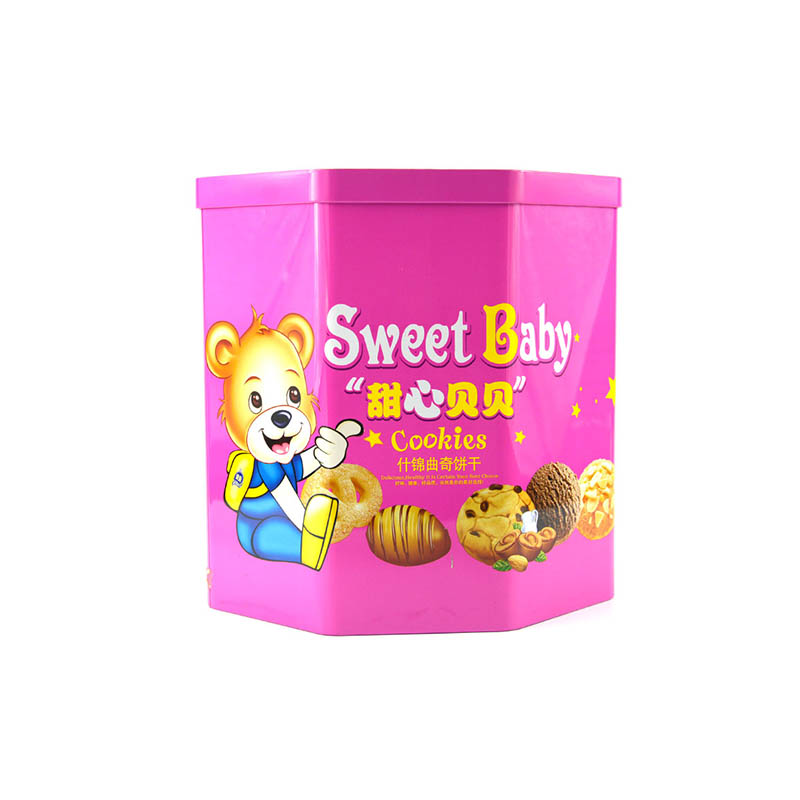 小熊饼干铁罐