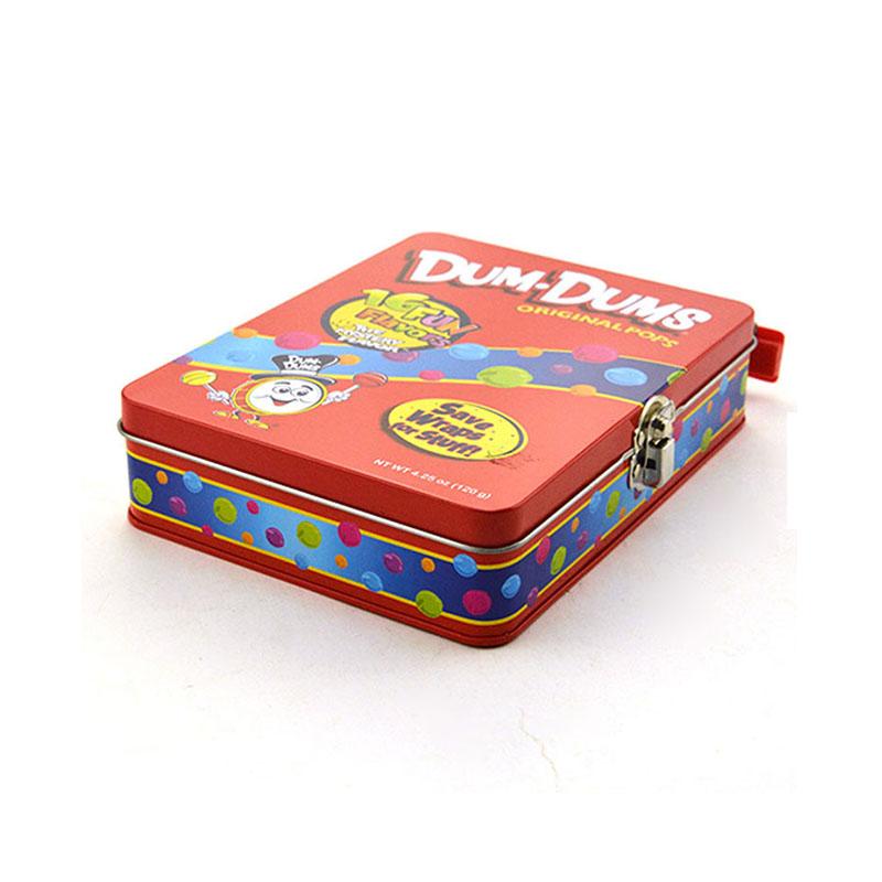 带卡扣糖果铁盒
