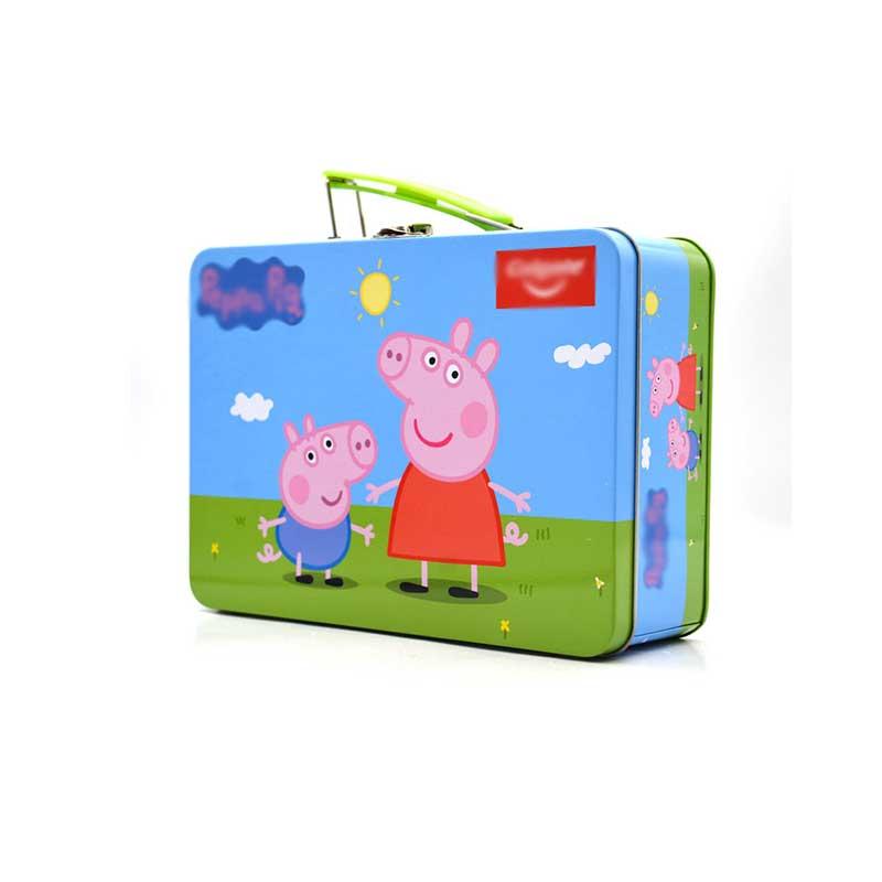 小猪佩奇文具铁盒